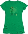 DC Comics juniors t-shirt Arrow Target kelly green