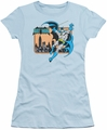 Batman juniors t-shirt Batman In The City light blue