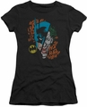 Batman Joker juniors t-shirt Broken Visage black