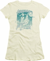 Aquaman juniors t-shirt Catch A Wave cream