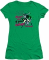 Catwoman juniors t-shirt Catch Me kelly green