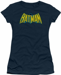 DC Comics juniors t-shirt Classic Batman Logo navy