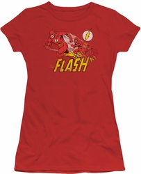 Flash juniors t-shirt Crimson Comet red