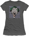 The Joker juniors t-shirt Dastardly Merriment charcoal