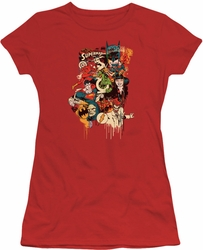DC Comics juniors t-shirt Dripping Characters red
