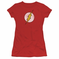 DC Comics juniors t-shirt Flash Logo Distressed red