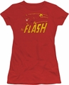 DC Comics juniors t-shirt Flash Speed Distressed red