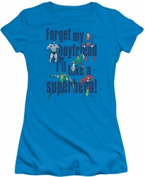 DC Comics juniors t-shirt Forget My Boyfriend turquoise