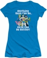 DC Comics juniors t-shirt Girls Can Do It Better turquoise