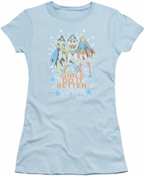 DC Comics juniors t-shirt Girls Do It Better light blue
