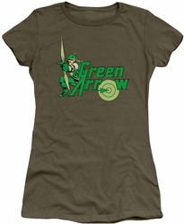 Green Arrow juniors t-shirt military green