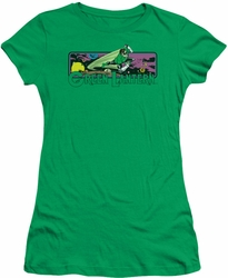 Green Lantern juniors t-shirt Cosmos kelly green