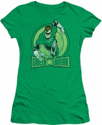 Green Lantern juniors t-shirt DC Comics kelly green