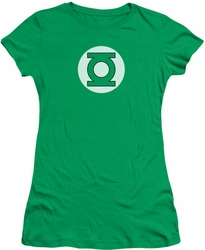 DC Comics juniors t-shirt Green Lantern Logo kelly green