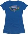Justice League juniors t-shirt Here They Come royal