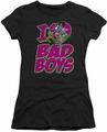 DC Comics juniors t-shirt I Heart Bad Boys black