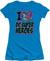 DC Comics juniors t-shirt I Heart Dc turquoise