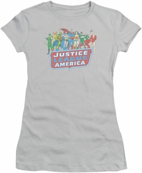 Justice League juniors t-shirt Jla Lineup silver