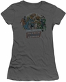 DC Comics juniors t-shirt Join The Justice League charcoal