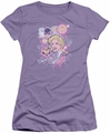 DC Comics juniors t-shirt Justice Is Pretty lavendar