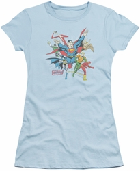 DC Comics juniors t-shirt Lead The Charge light blue