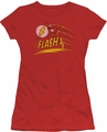 Flash juniors t-shirt Like Lightning red