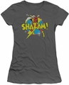Shazam juniors t-shirt Power Bolt charcoal