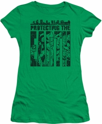 DC Comics juniors t-shirt Protecting The Earth kelly green