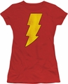 DC Comics juniors t-shirt Shazam Logo Distressed red
