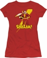 Shazam! juniors t-shirt red