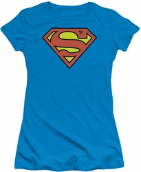 DC Comics juniors t-shirt Superman Logo turquoise