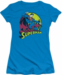 DC Comics juniors t-shirt Superman turquoise
