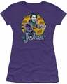 The Joker juniors t-shirt The Joker purple