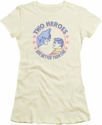Batman Robin juniors t-shirt Two Heroes cream