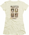 DC Comics juniors t-shirt Wanted Poster cream