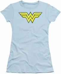 DC Comics juniors t-shirt Wonder Woman Logo Distressed light blue