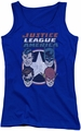 DC Comics juniors tank top 4 Stars royal