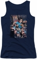 DC Comics juniors tank top Action Comics #1 navy