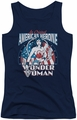DC Comics juniors tank top American Heroine navy