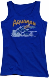 DC Comics juniors tank top Aqua Swim royal
