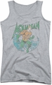 DC Comics juniors tank top Aquaman Marco athletic heather