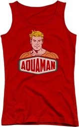 DC Comics juniors tank top Aquaman Sign red