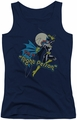 DC Comics juniors tank top Batgirl Night Person navy