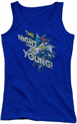 DC Comics juniors tank top Batgirl The Night Is Young royal
