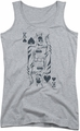 DC Comics juniors tank top Batman Bat Card athletic heather