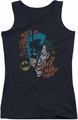 DC Comics juniors tank top Batman Broken Visage black