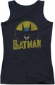 DC Comics juniors tank top Batman Circle Bat black