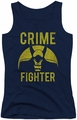 DC Comics juniors tank top Batman Fight Crime navy