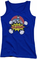 DC Comics juniors tank top Batman Kaboom royal