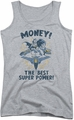 DC Comics juniors tank top Batman Money athletic heather